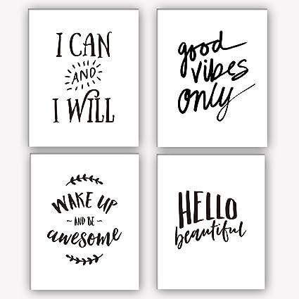 "Amazon HOMEPLAY Motivational Words Art Print Set Of 60 60""X60 Extraordinary Motivational Words"