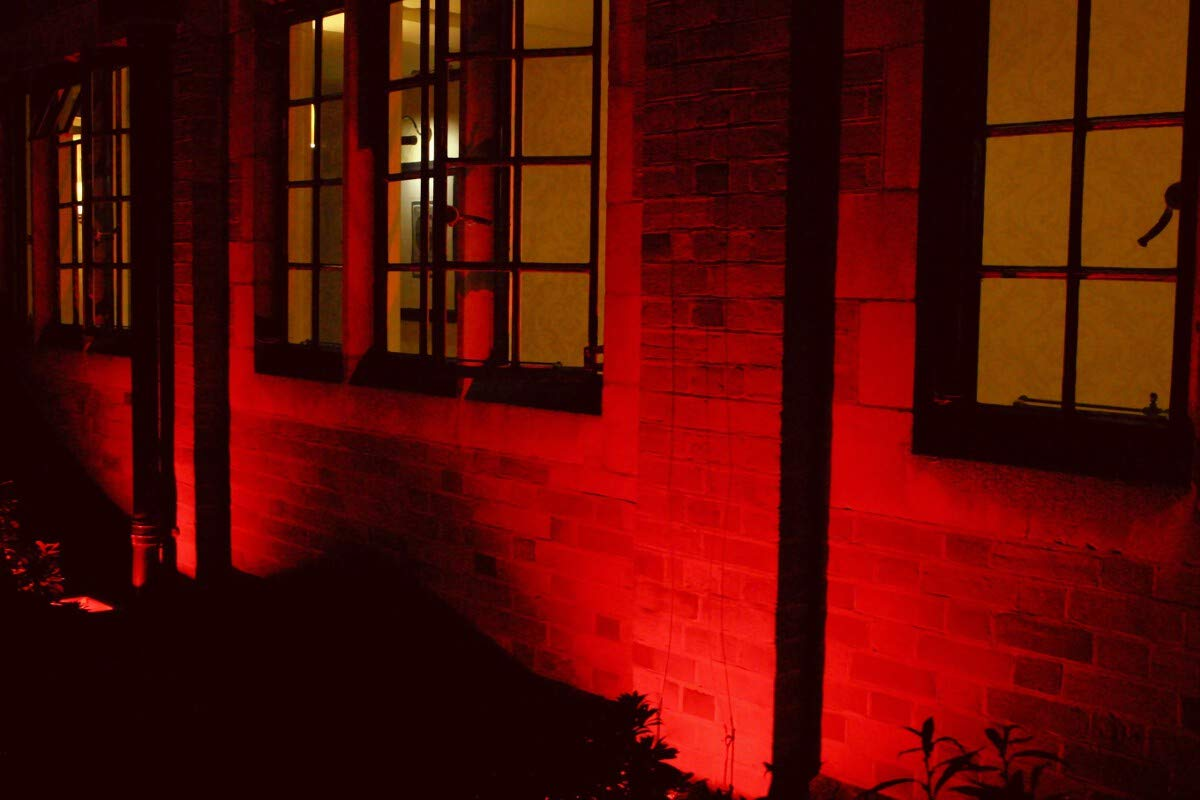 Red MR16 LED Light Bulbs with GU5.3 Base 50W Equivalent Halogen Replacement 5W 12V Bi-pin Spotlight 38 Deg Landscape Pool Step Lighting-6 Packs LEMENG LM-4MR16RED12V-5W
