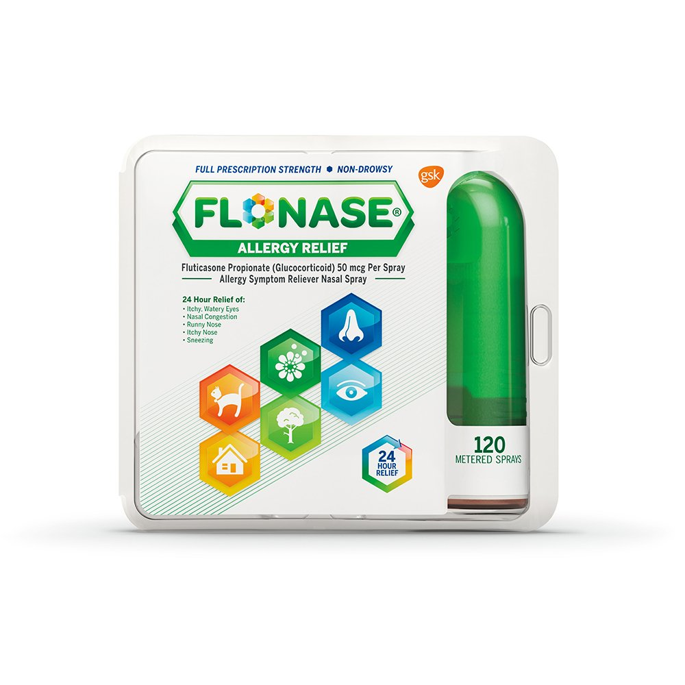 Flonase Allergy Relief Nasal Spray, 120 metered sprays 0.54 oz