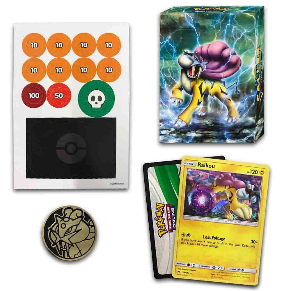 Storm Caller 60-Card Theme Deck Featuring A Holographic Raikou Pokemon International 097712543246 Lost Thunder Sun /& Moon Pokemon TCG