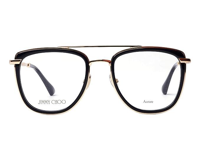 Jimmy Choo - Monture de lunettes - Femme Noir 807 52  Amazon.fr  Vêtements  et accessoires 902786a1c69a
