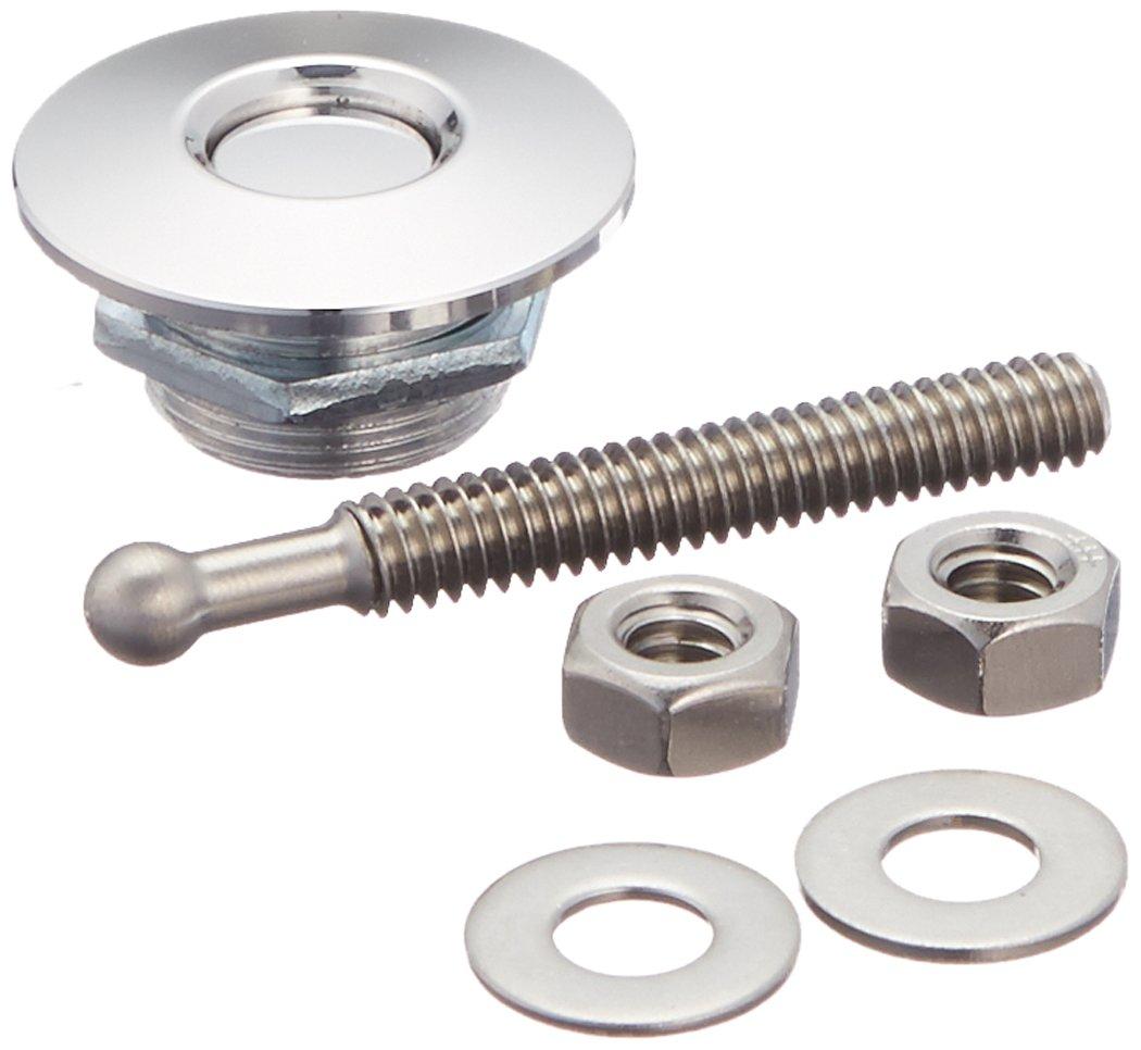 Quik-Latch Products QL-25-SP 1.25'' Diameter Polished Aluminum Mini Quick Release Latch