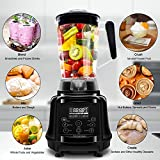 Commercial Blender AIMORES - Pre-Programmed for Smoothie Soup Juice Ice Cream Puree - 75oz Pitcher - Speed/Timing Setting - Powerful Food Processor - ETL/FDA Approved - w/ Tamper & Recipe