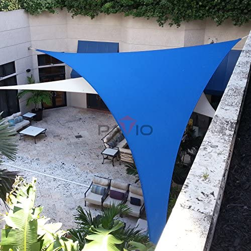 Patio Paradise Blue 20x20x28 Sun Shade Sail Right Triangle Canopy