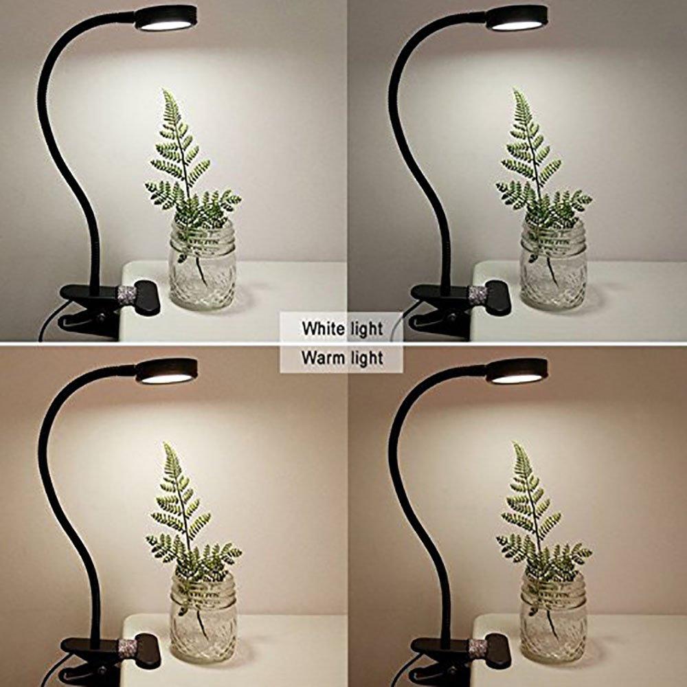 LgoodL DH-89020 - Lámpara con clip para escritorio, luz de lectura ...