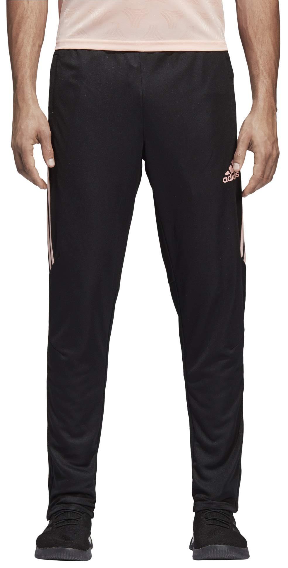 adidas Men's Soccer Tiro 17 Training Pant, Black/Haze Coral, Medium