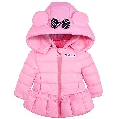 Ankoee Mignon Bébé Fille Manteau Veste Hiver Cape Blousons Vêtements Chauds Enfants
