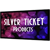 """STR-169110-HC Silver Ticket 4K Ultra HD Ready Cinema Format (6 Piece Fixed Frame) Projector Screen (16:9, 110"""", High Contrast Material)"""