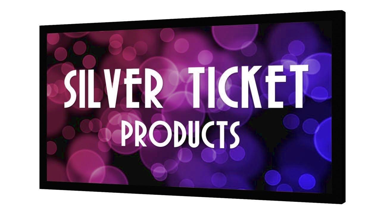 Silver Ticket 4K Ultra HD 対応 シネマ フォーマット (6 ピース 固定 フレーム) プロジェクター用 スクリーン 16:9, 100