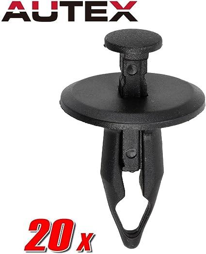 20x Black Nylon  PONTIAC G6 MALIBU DOOR TRIM CLIPS Rivet For Chevrolet Retainers