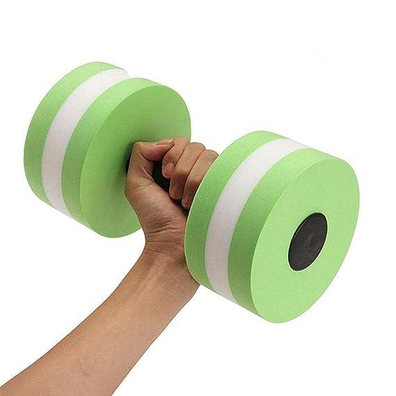 zerlar EVA espuma Aqua mancuernas pesas de agua para piscina ejercicios resistencia formación para el trabajo equipo unidades de par, Green - 1 Pair, ...