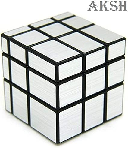 AKSH Rubiks Rubix Mirror Cube Magic Rubiks Cube, Highly Stable and High Speed Puzzle Cube (Mirror Cube Silver)