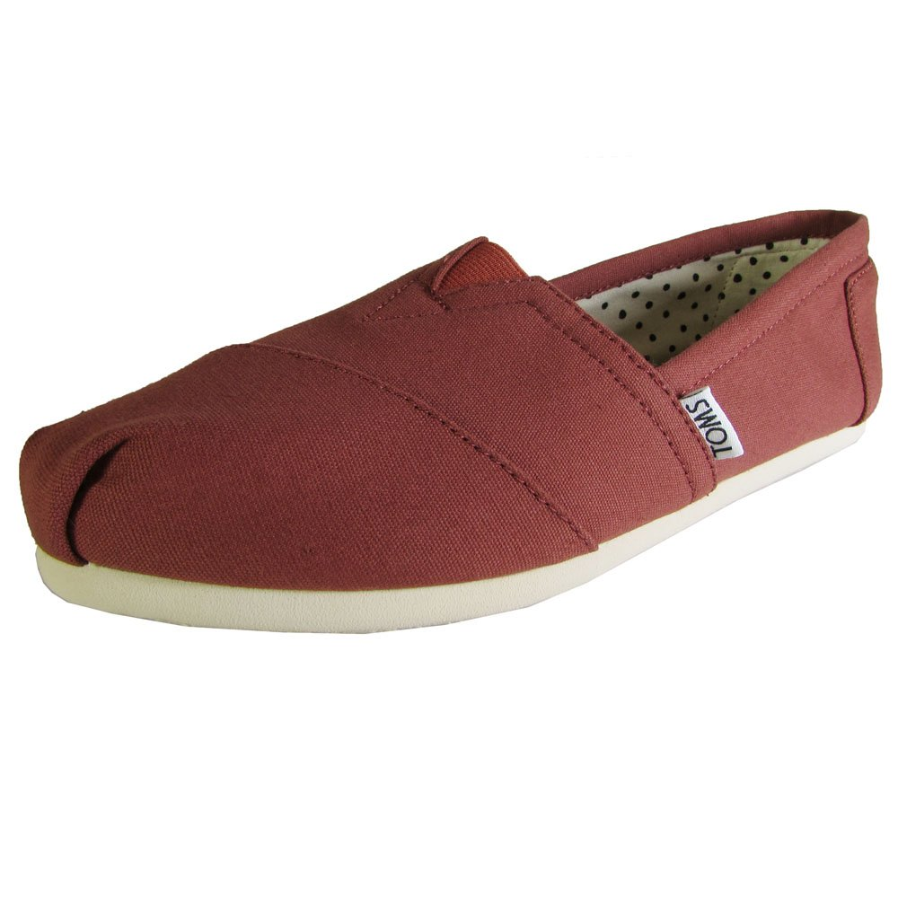 TOMS Classic Picante Red Canvas Womens 5