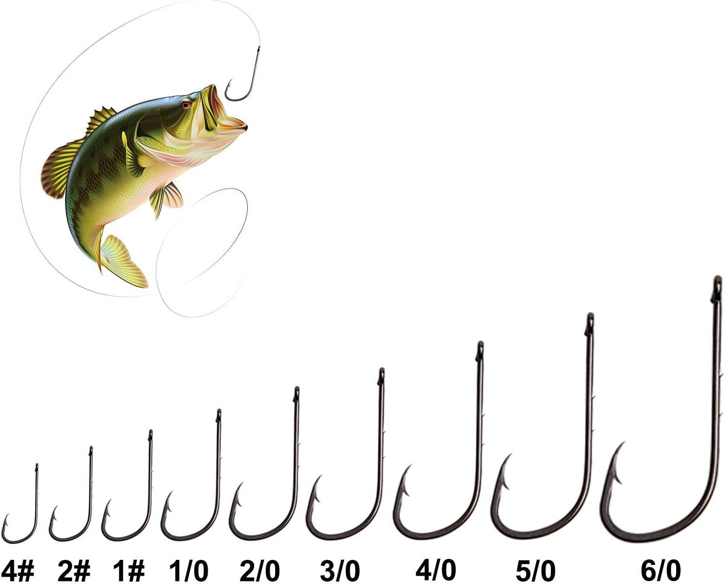 Baitholder Hooks Strong Sharp Barbed Eyed Pike Perch Lure Sea Fishing Long Shank