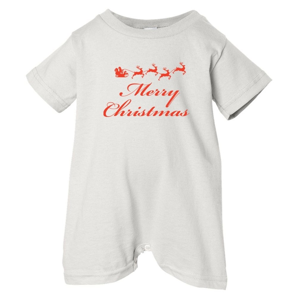 Festive Threads Unisex Baby Merry Christmas T-Shirt Romper