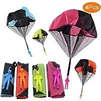 Sunshine smile Kinder Hand werfen Fallschirm, 4 × Hand werfen Fallschirm Spielzeug,Kinder Fallschirm,Spielzeug Kinder!