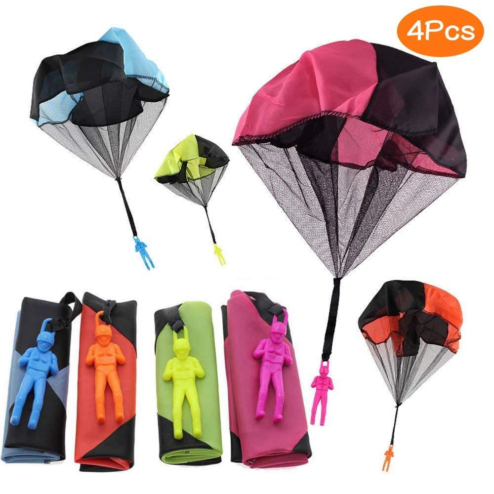 Sunshine smile Main Lancer Parachute Jouet Set.Compris 4 × Jouet de Parachute pour Enfants. De très Bons Jouets de Plein air pour Les Enfants, Peuvent être offerts en Cadeau aux Enfants!