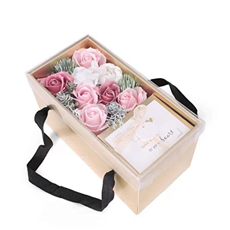 Flor de rosa artificial Nunca se marchitó Rosas Caja de ...