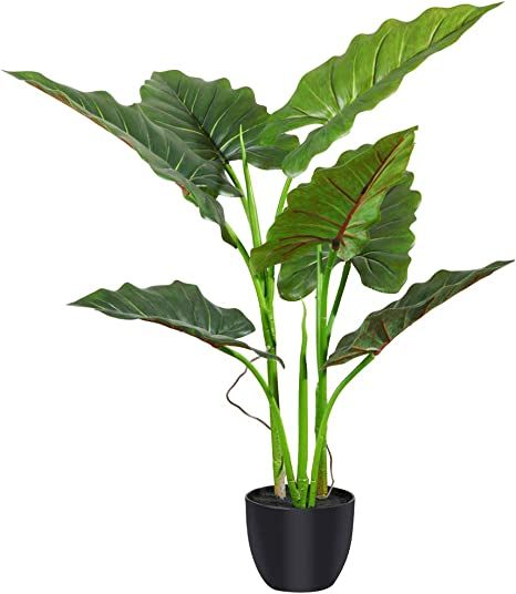 Amazon Com Fopamtri Artificial Calla Lily Plant 31 Inch With 7 Leaves Faux Plant For Indoor Outdoor Fake Plants In Pot For Home Office Perfect Housewarming Gift Home Kitchen