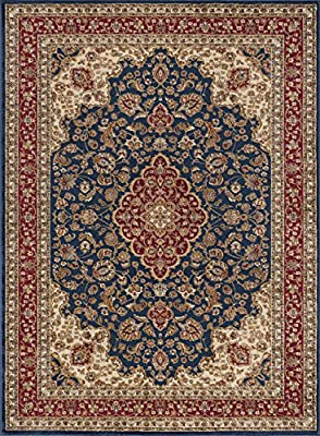 Universal Rugs Kirsten Transitional Border Red Rectangle Area Rug