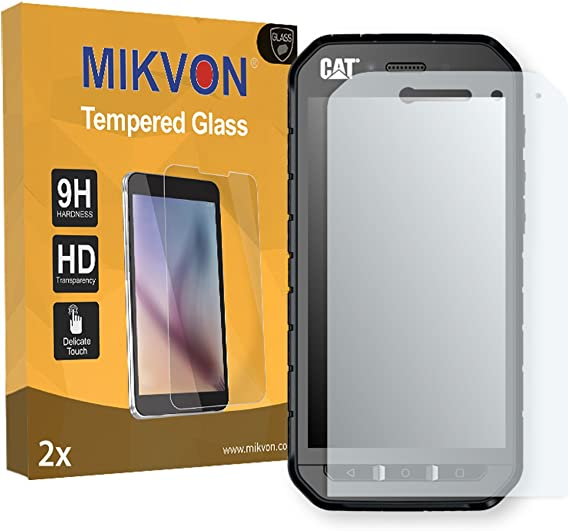 Mikvon 2X Flexible Tempered Glass 9H para Cat S41 Protector de ...