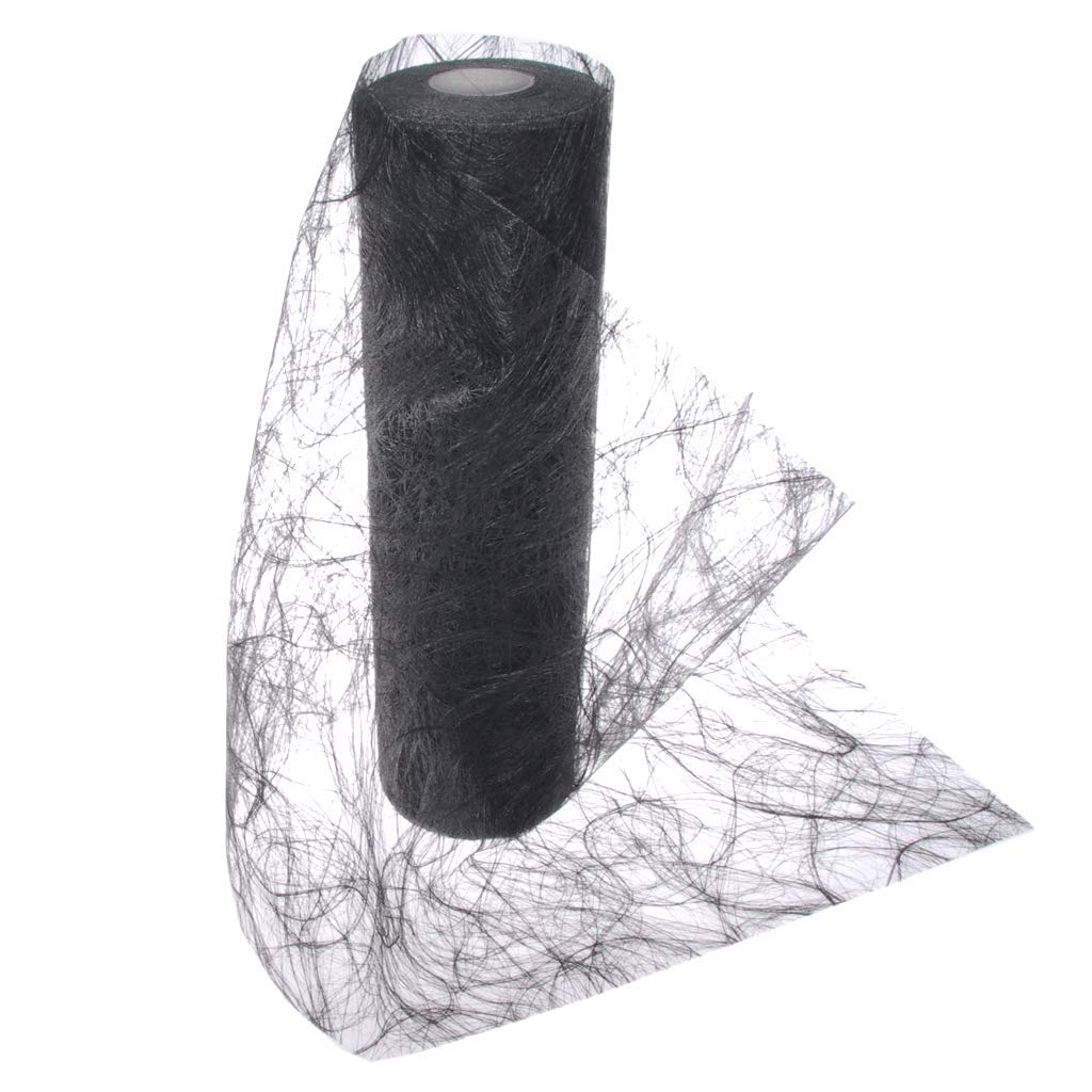 Sizoweb Table Runner - Black - 20 CM Roll 25 Metres - 64 017-R 200 Deko AS GmbH Dropship No Model