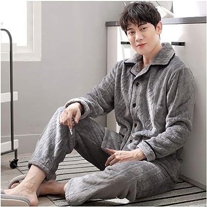 Albornoz Franela pijamas Set Loungewear de manga larga de los ...