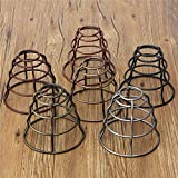 130MM DIY Vintage Pendant Trouble Light Bulb Guard Wire Cage Ceiling Hanging Lampshade (Random: Color)