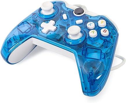 Maexus - Mando de Xbox One con Cable, Color Azul Transparente, con ...