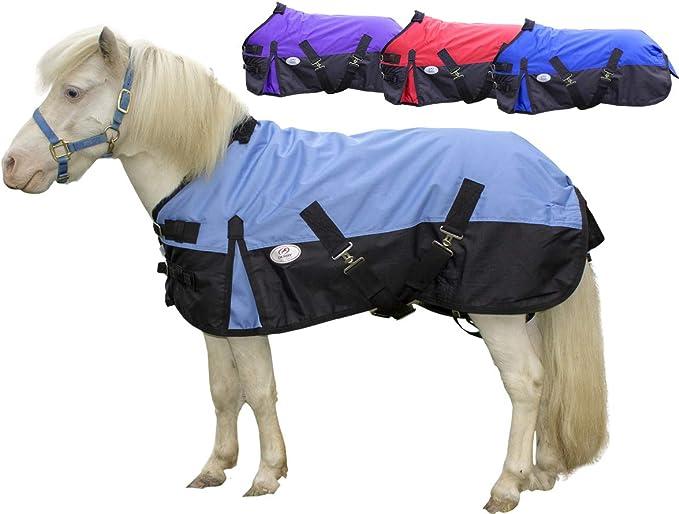 3/Pieds, Rose Cwell Equine New Mini l/éger Chemise de Pluie pour Poney Shetland Tapis Tapis Poulain Tapis sans Garnissage Choix de Couleurs et Tailles