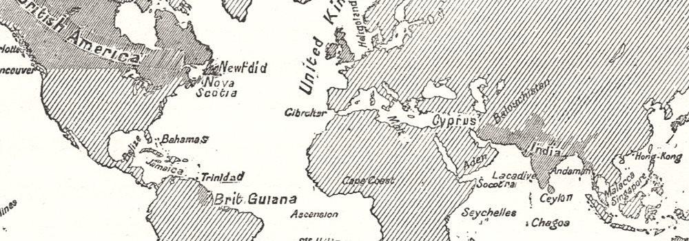 Las colonias británicas. Imperio. Mundo. Mapa de boceto 1885 - Mapa antiguo - Mapa antiguo - Mapa vintage - Mapas impresos del mundo: Amazon.es: Hogar