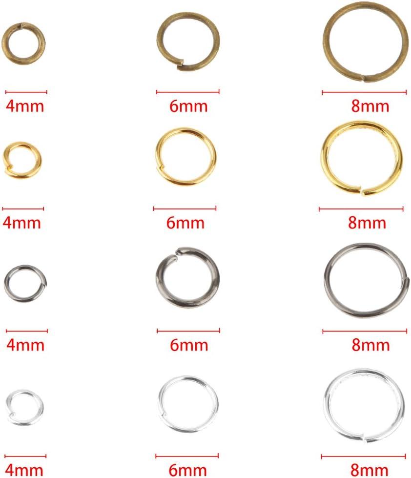 300 x offene Biegeringe /Ösen Binderinge Verbindungsringe Schmuck Basteln Gold 4mm