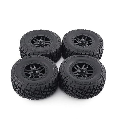 Dailyinshop Neumáticos 4pcs AUSTAR 110 mm del Borde de Goma de la Rueda de la Raya