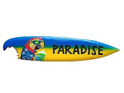 """Vibrante 39 """"Handcarved pintado y madera"""" Parrot con bebida paraíso """"Sharkbite"""