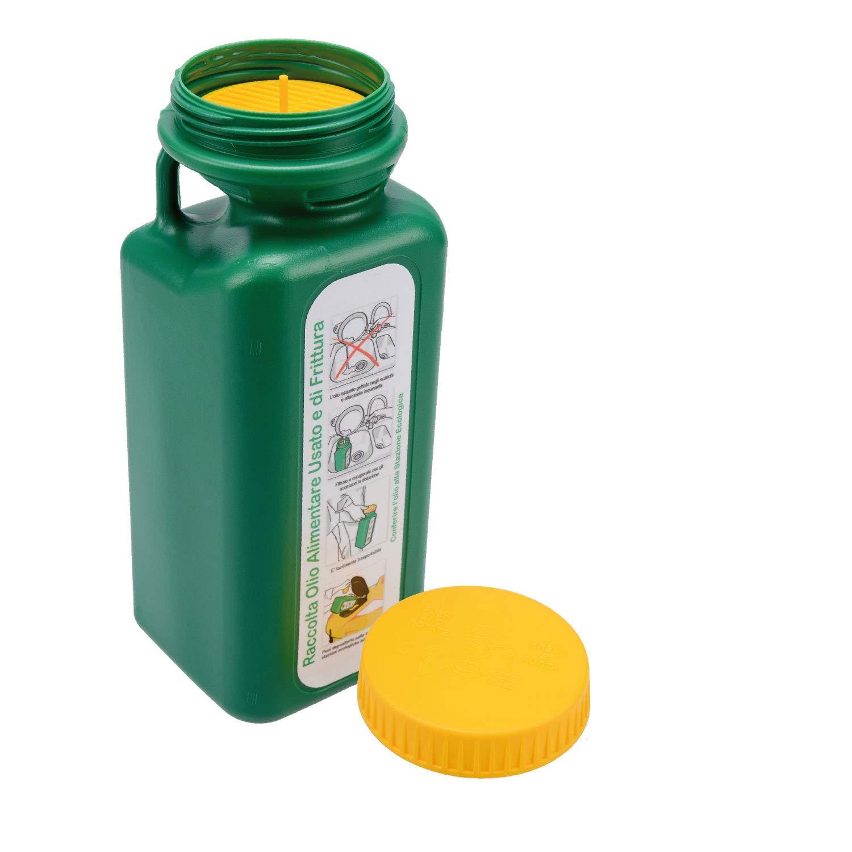 Colibri 1, 6LT Tanica Verde per Il Recupero e Il contenimento dell'olio Alimentare Usato e di frittura per Raccolta differenziata con Tappo Sicurezza Bimbo in plastica Nuova C.Plastica S.r.l.
