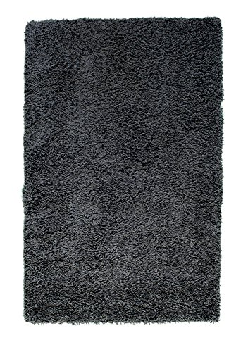 (Soft & Plush Solid Shag Rug for Bedroom   Living Room   Dining Room 5' x 8', Charcoal Gray)
