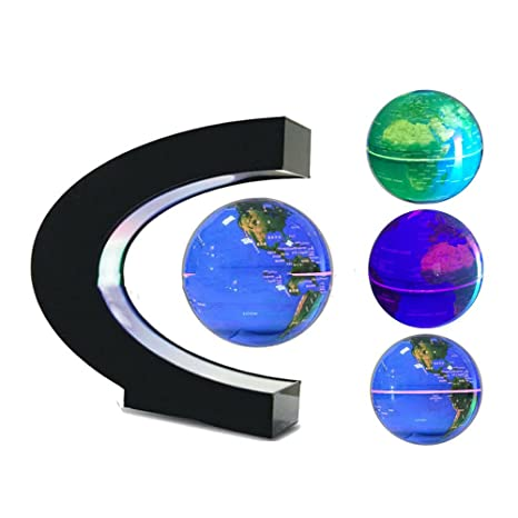 Amazon fuzadel multi color changing levitating globe magnetic fuzadel multi color changing levitating globe magnetic levitation floating globe world map educational gifts for gumiabroncs Gallery