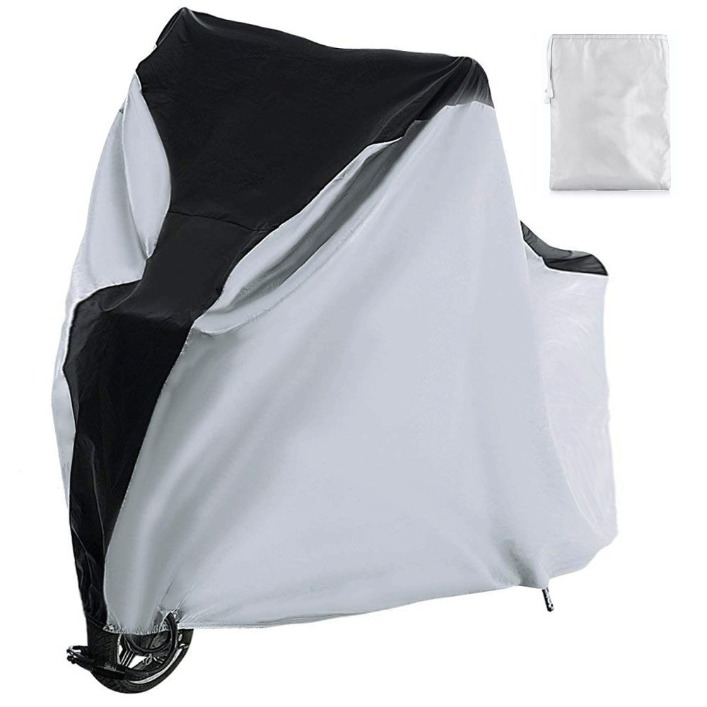 Bike Cover Waterproof Outdoor Bicycle Cover with Lock Hole for 1 Mountain Road Bikes