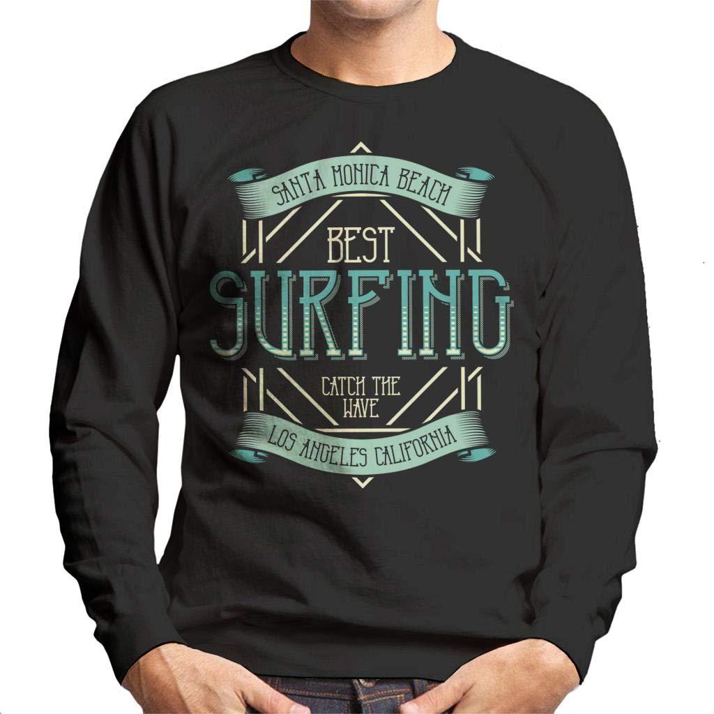 Coto7 Santa Monica Beach Surfing Mens Sweatshirt: Amazon.es ...