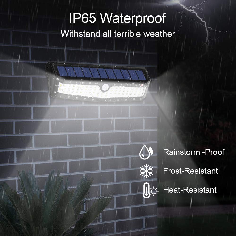 Solar Security Lights Outdoor,79 LED Motion Sensor Super Bright Wall Lights,4 Lighting Modes,Weatherproof, Wide Angle for Yard, Driveway, Garage, Pathway,Garden,Solar and USB Powered