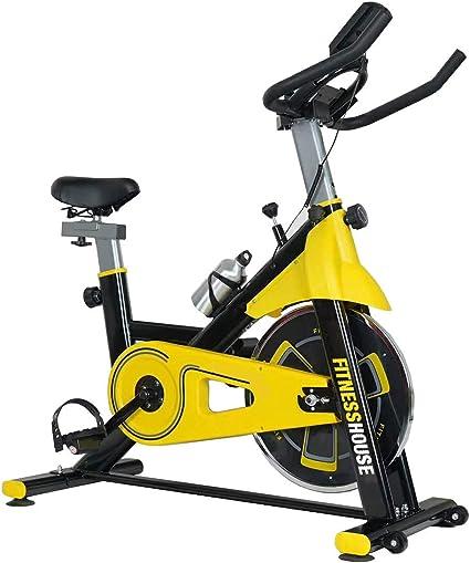 Fitness House Bestia Sports Bicicleta de Ciclo Indoor, Unisex Adulto, Amarillo/Negro, M-L: Amazon.es: Deportes y aire libre