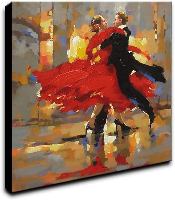 LDKAI Pintura al óleo Pintado a Mano-Personas Art Deco/Retro ...