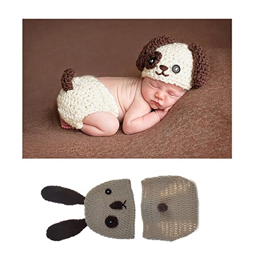 ed94f741b6a Amazon.com  Upsmile Newborn Photography Props Hat Handmade Baby Crochet Hats  Beanie Cap Infant Knitted Clothes Hat Rompers  Clothing