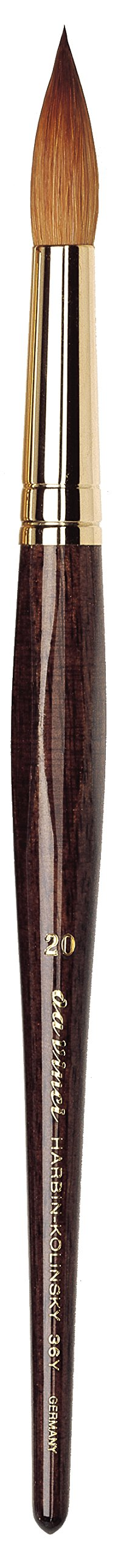 da Vinci Watercolor Series 36Y Paint Brush, Round Harbin Kolinsky Red Sable with Anthracite Hexagonal Handle, Size 20