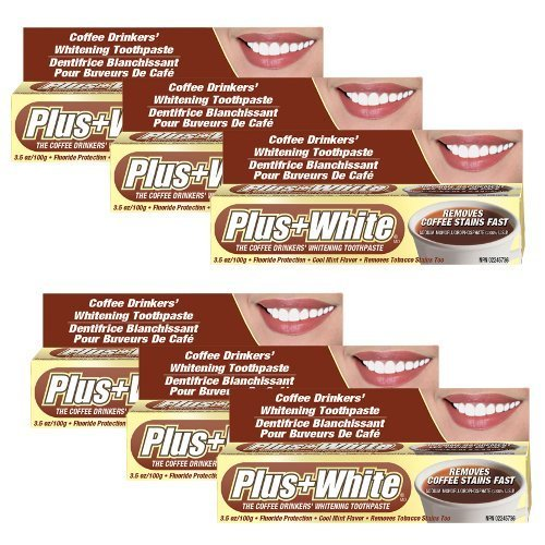 Plus White Coffee Drinkers' Toothpaste (Pack of 6) Coffee Drinkers Whitening Toothpaste