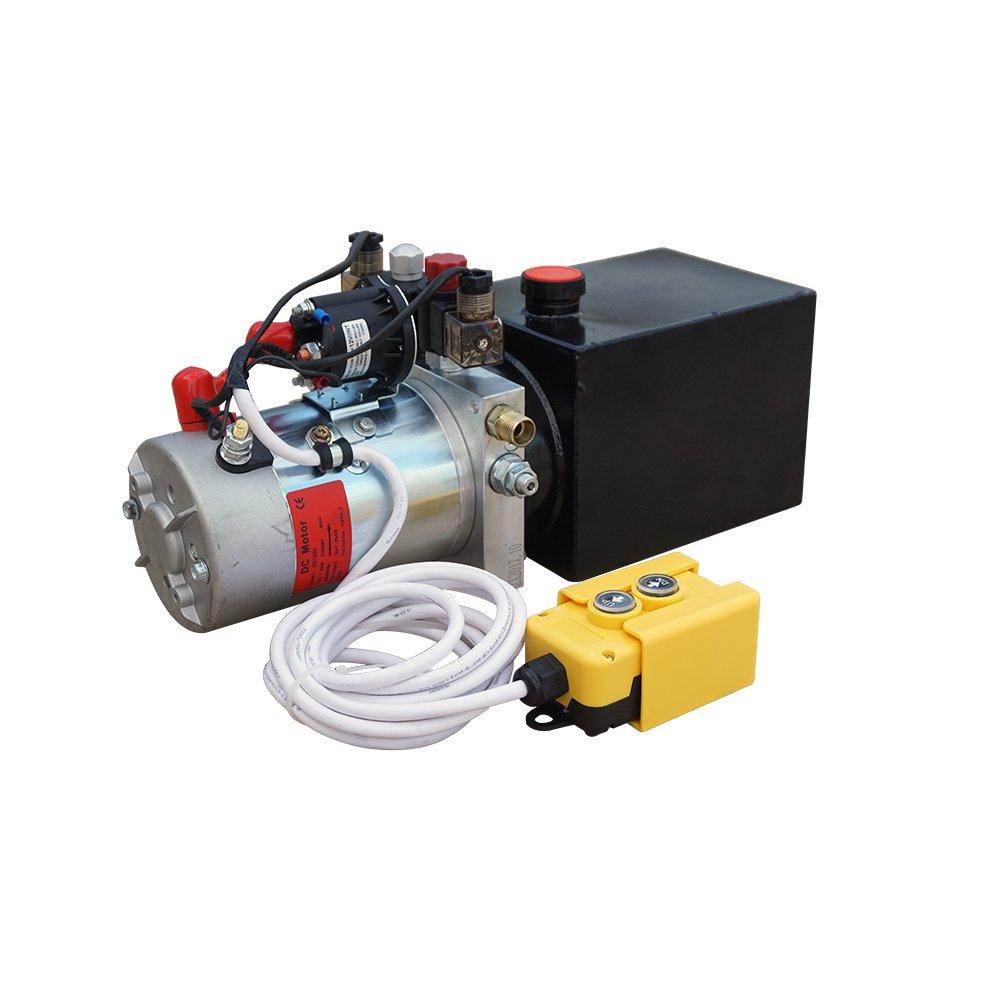 ECO-worthy 3 クォット 12V DC 双作用 油圧動力 ポンプ L11020101002-1 B01N5AKGI0