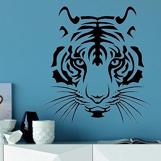 ljradj Tiger Head Animal patrón Pegatinas de Pared para Sala de ...