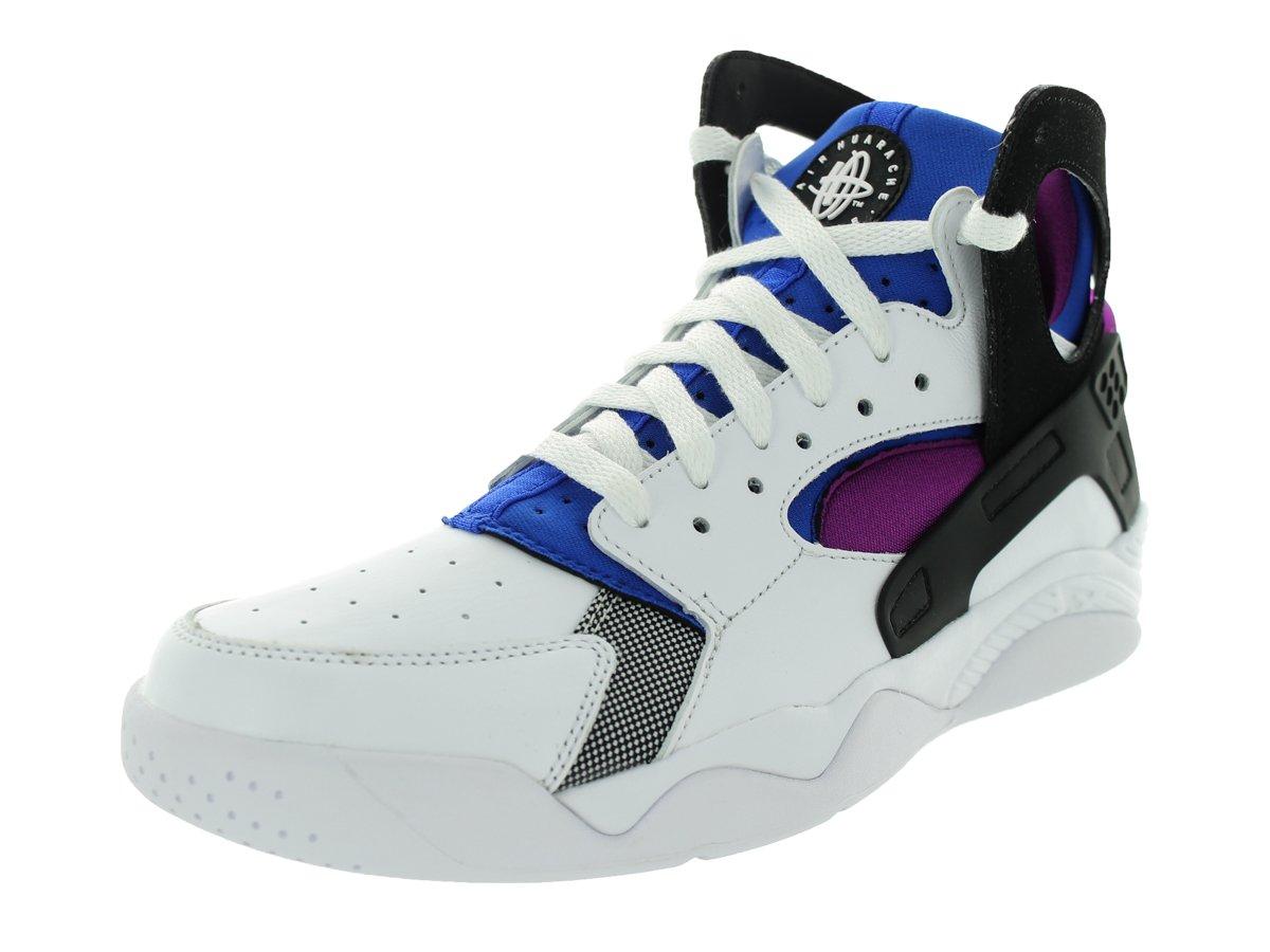 NIKE Air Flight Huarache Mens Hi Top Trainers 705005 Sneakers Shoes B004FQ4OL6 10 D(M) US|White/Black-Lyon Blue-Bold Berry
