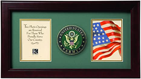 Amazon Com Allied Frame Us Army Medallion Double Picture Frame Two 4 X 6 Photo Openings Double Frames