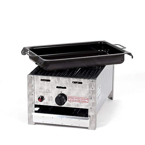 LAG Gasgrill-Kombibräter 365 kW mit Grillrost und emaillierter Stahlpfanne 1-flammig Gasgrill Grill Gastrobräter Profigrill Verein